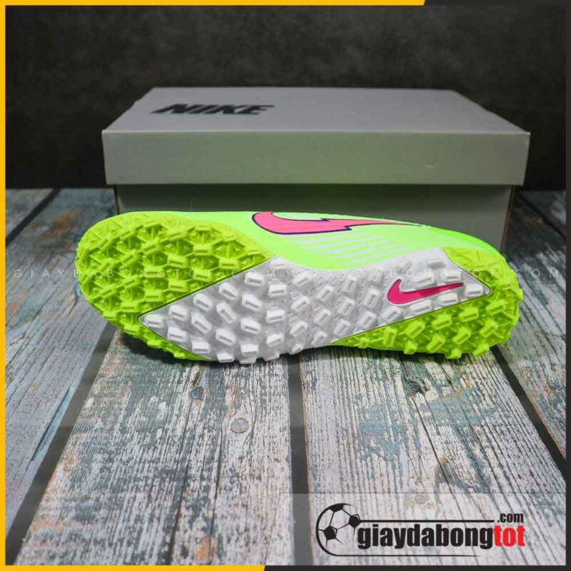 Nike mercurial vapor 13 pro tf xanh chuoi vach hong (4)