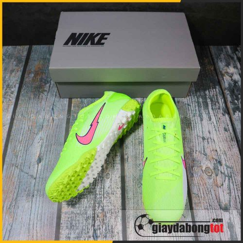 Nike mercurial vapor 13 pro tf xanh chuoi vach hong (5)