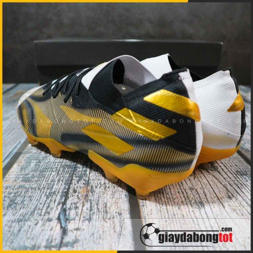 adidas nemeziz 19.1 fg trang den vach vang giay da bong chan be (1)
