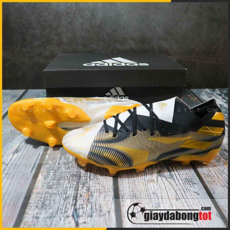 adidas nemeziz 19.1 fg trang den vach vang giay da bong chan be (2)