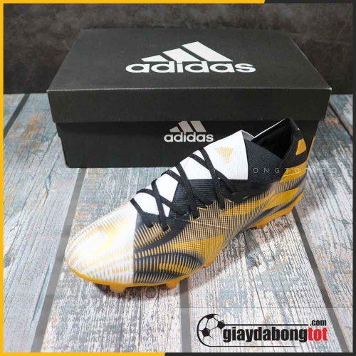 adidas nemeziz 19.1 fg trang den vach vang giay da bong chan be (6)