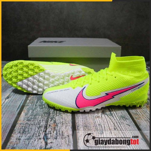 Giay da bong co cao nike mercurial superfly 7 elite tf chuoi vach hong 2021 (2)