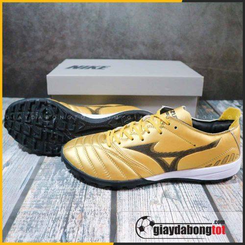Giày đá bóng chân bè Mizuno Neo 3 TF vàng đồng vạch đen