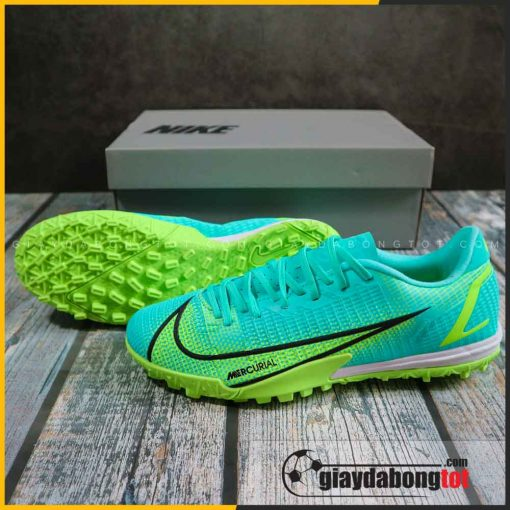 Nike mercurial vapor 14 academy tf xanh nhat vach den (2)